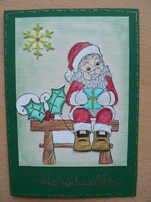 Weihnachtskarten- mein 1. Blogpost 19