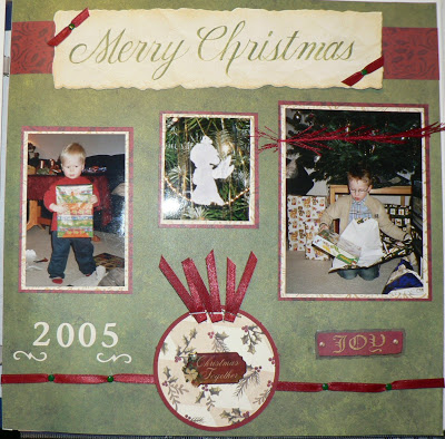 "Scrapbooking-LO ""Merry Christmas"" 1"