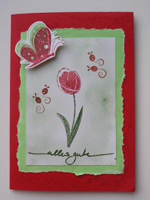 """Geburtstagskarte mit Stampin up """"Wunderlicher Garten"""" 1"""