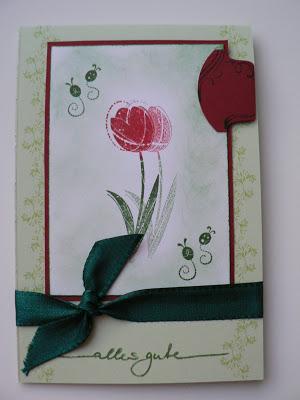"""Geburtstagskarte mit Stampin up """"Wunderlicher Garten"""" 2"""