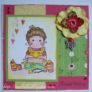 frühlingshafte Geburtstagskarte 1