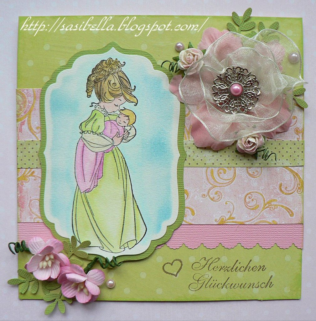 Welcome little one + Tutorial selbstgemachte Blüte /flower 9