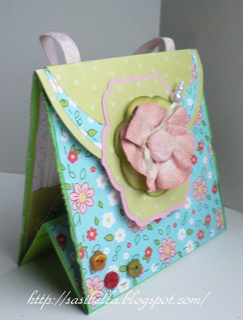 Perkabook Card (Taschen Karte)+ Flower Tutorial 54