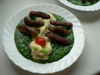 Kinder Wunschessen Tag -Spinat mit Kartoffelbrei 3