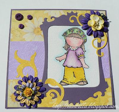 Geburtstagskarte in Lila - gelb 8