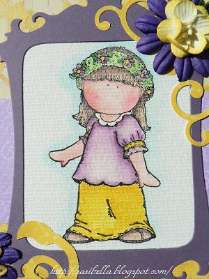 Geburtstagskarte in Lila - gelb 9