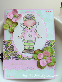 Hänglar Mädchen in rosa/grün 7