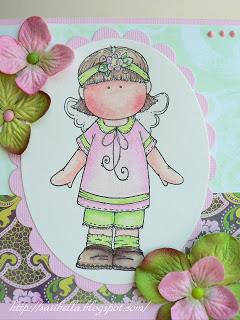 Hänglar Mädchen in rosa/grün 8
