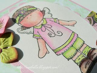 Hänglar Mädchen in rosa/grün 9