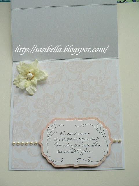 Hochzeits Easel Card / edle Hochzeitskarte handgemacht 15
