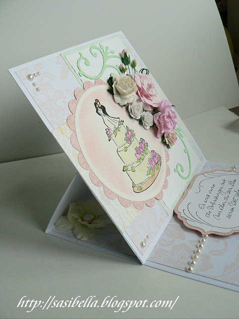Hochzeits Easel Card / edle Hochzeitskarte handgemacht 16