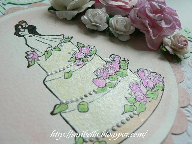 Hochzeits Easel Card / edle Hochzeitskarte handgemacht 17