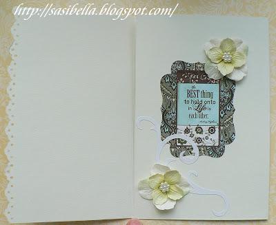 Tri Fold Card - Wieder mal Hochzeit 19