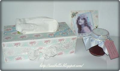 Kosmetiktücherbox im Tilda/Vintage Stil 13