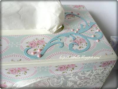 Kosmetiktücherbox im Tilda/Vintage Stil 15