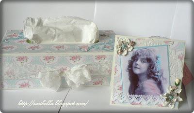 Kosmetiktücherbox im Tilda/Vintage Stil 6