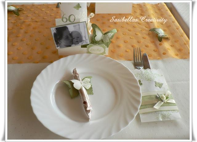 Tischdeko zum 60.Geburtstag mit Stampin up 81