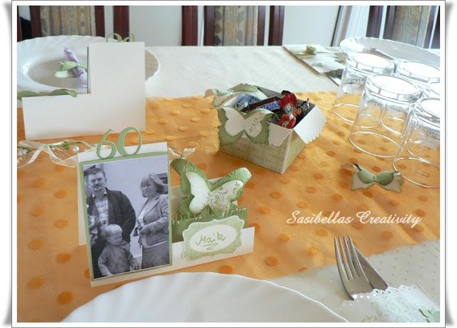 Tischdeko zum 60.Geburtstag mit Stampin up 78