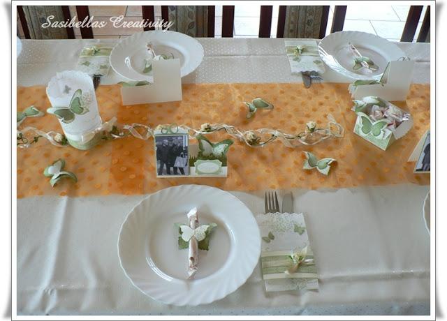 Tischdeko zum 60.Geburtstag mit Stampin up 1