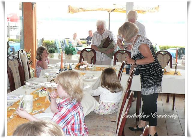 Tischdeko zum 60.Geburtstag mit Stampin up 83