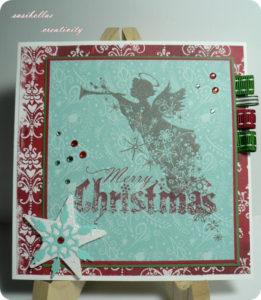 Weihnachtskarte mit Engel – selbstgemacht