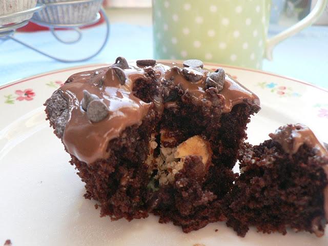Double Chocolate Muffins mit Kinder-Schoko-Bon Füllung 1