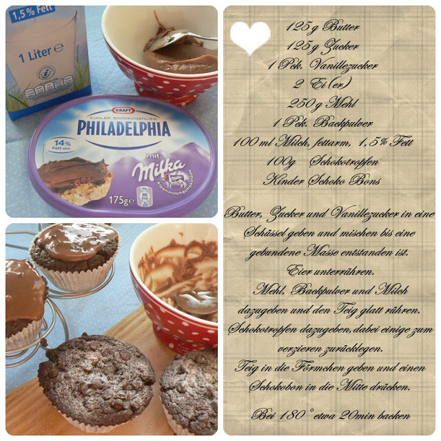 Double Chocolate Muffins mit Kinder-Schoko-Bon Füllung 3
