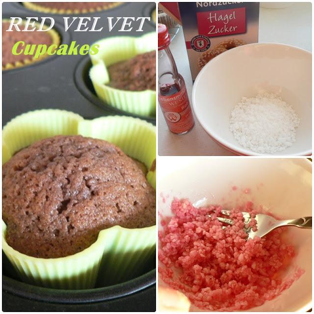 """Red Velvet bzw. Rote Samt Cupcakes"" 12"