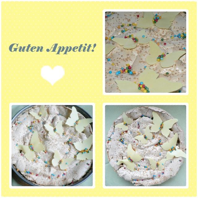 Stachelbeer-Baiser Torte ohne Sahne 3