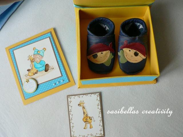 Kreativer Freitag # 7 Baby-Box aus Graupappe 11