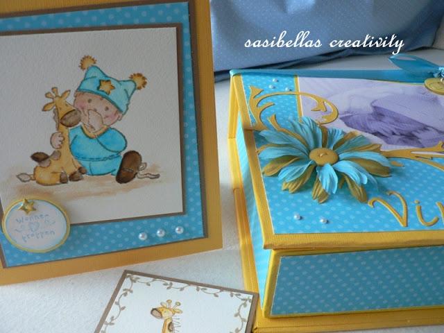 Kreativer Freitag # 7 Baby-Box aus Graupappe 9