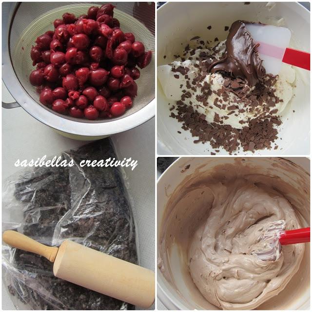 Kirschtrifle mit Oreokeksen und Nutellacreme 11