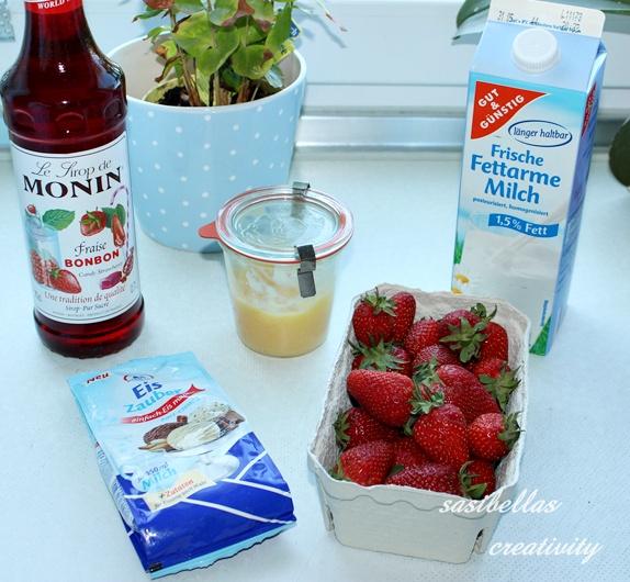 Erdbeer- Lemon Curd Eis 4