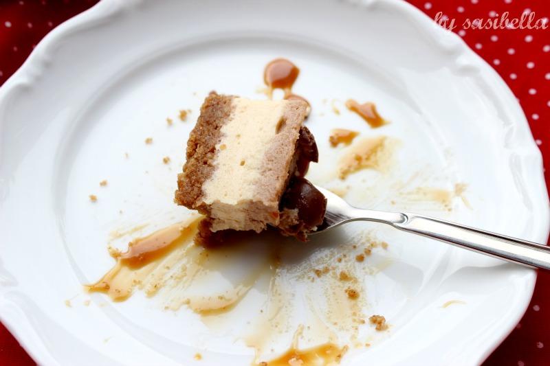 Karamel-Schokoladen Cheesecake mit Schokobons 3