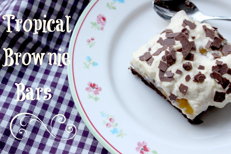 Tropical Brownie Bars + Tropical Dessert 15