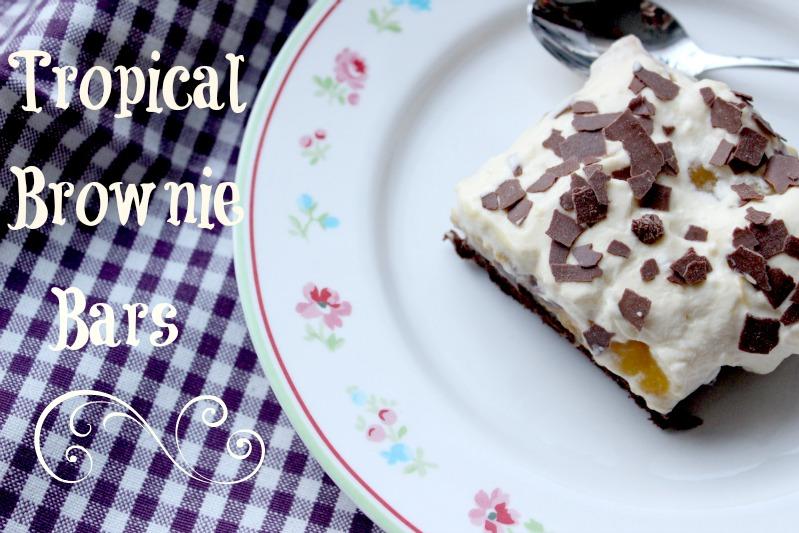 Tropical Brownie Bars + Tropical Dessert 1