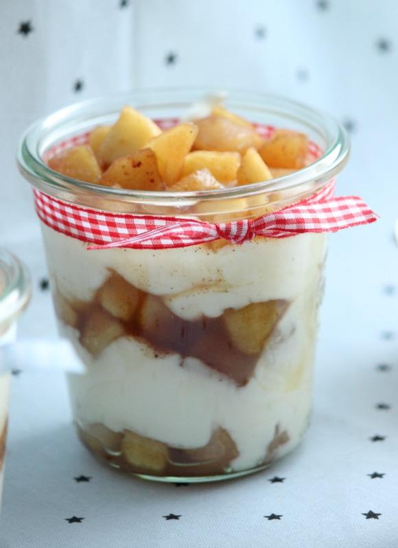 Gewürzapfel mit griechischem Joghurt 13