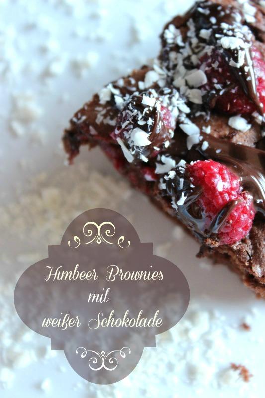 Himbeer Brownies mit weißer Schokolade 1