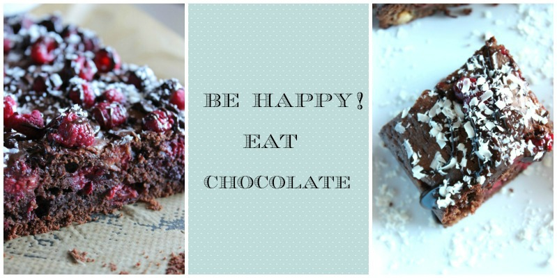Himbeer Brownies mit weißer Schokolade 5