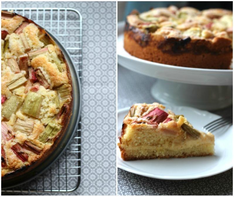 Rhabarber Kuchen mit Flammericreme 4