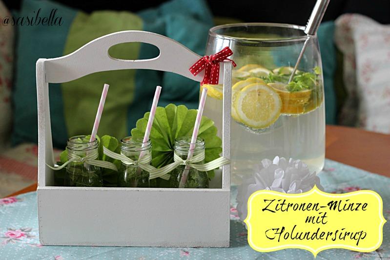 Zitronen-Minze mit Holunderblütensirup 13
