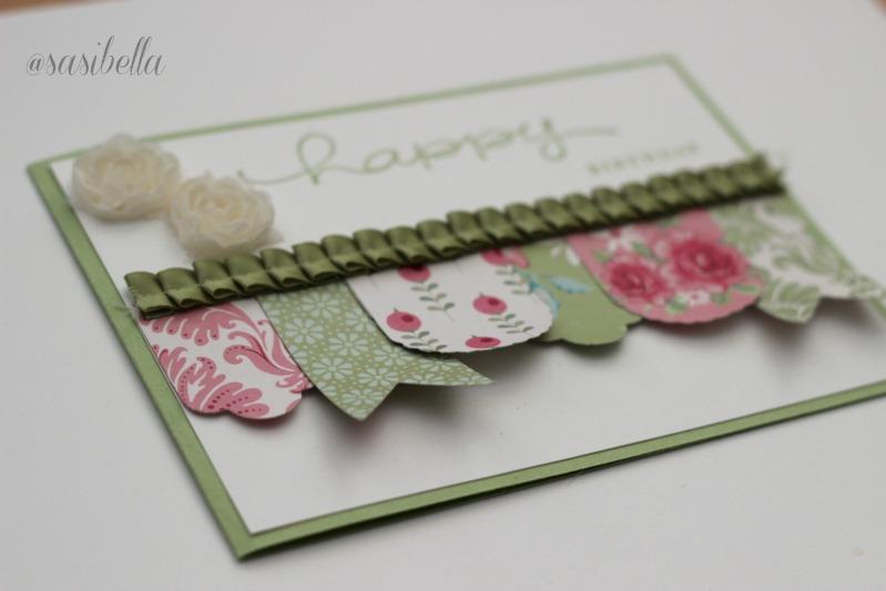 """Geburtstagskarte mit """"Hearts a Flutter"""" 2"""