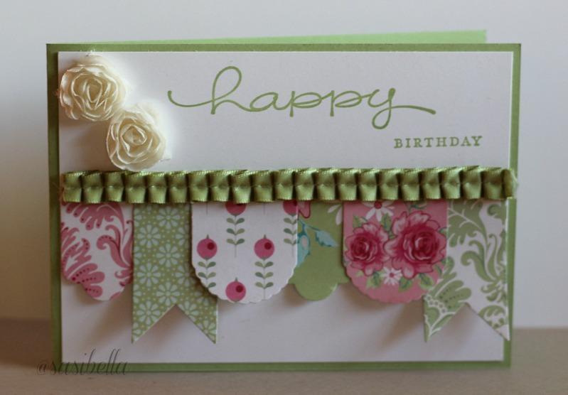 """Geburtstagskarte mit """"Hearts a Flutter"""" 1"""