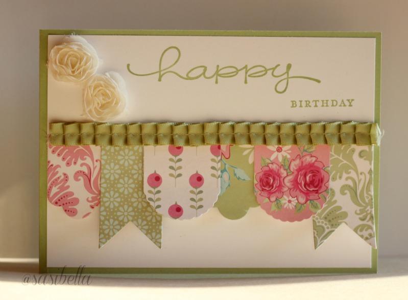 """Geburtstagskarte mit """"Hearts a Flutter"""" 3"""