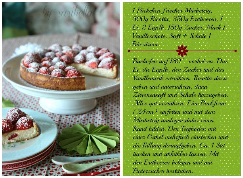 Einfache Erdbeer-Ricotta Tarte 3