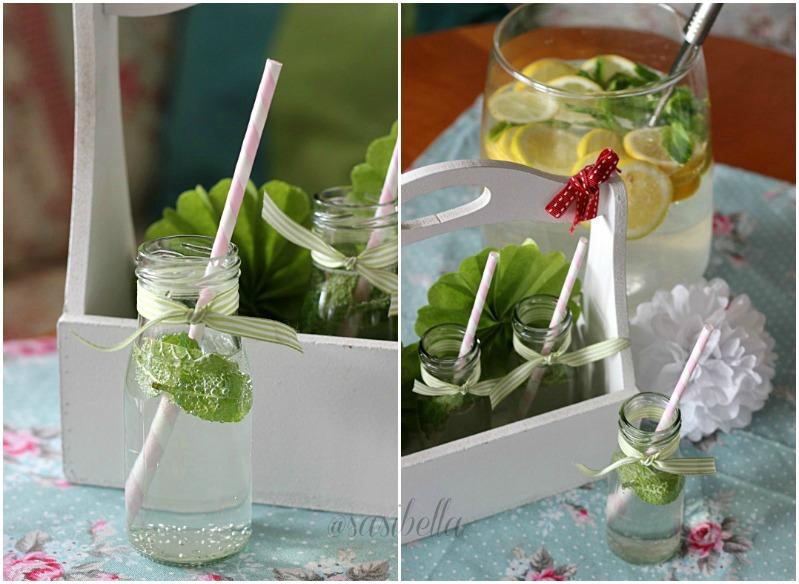 Zitronen-Minze mit Holunderblütensirup 16