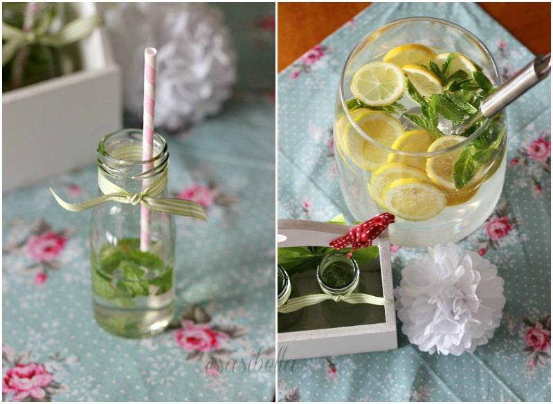 Zitronen-Minze mit Holunderblütensirup 14