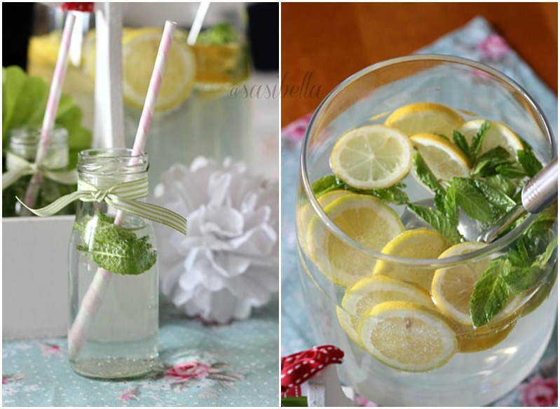 Zitronen-Minze mit Holunderblütensirup 17