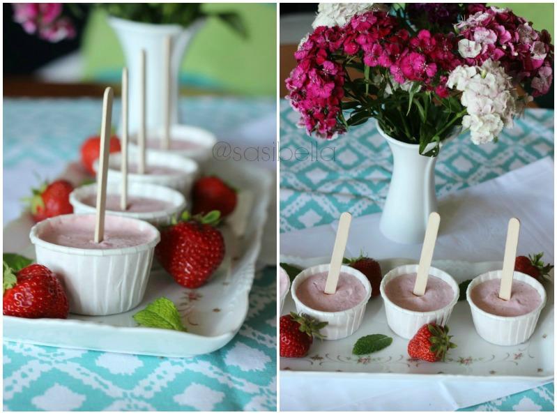Erdbeerwoche Tag 2 - Erdbeersuppe und Erdbeer-Ricotta Popsicles 20