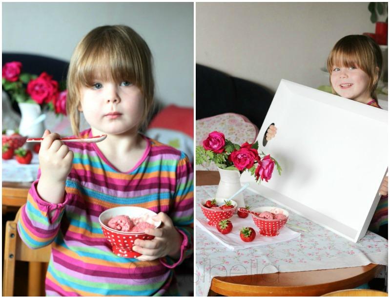 Erdbeerwoche Tag 7 - Erdbeer Schmand Eis 9